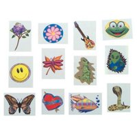 Temporary Tattoos (144/Pack) - Assorted