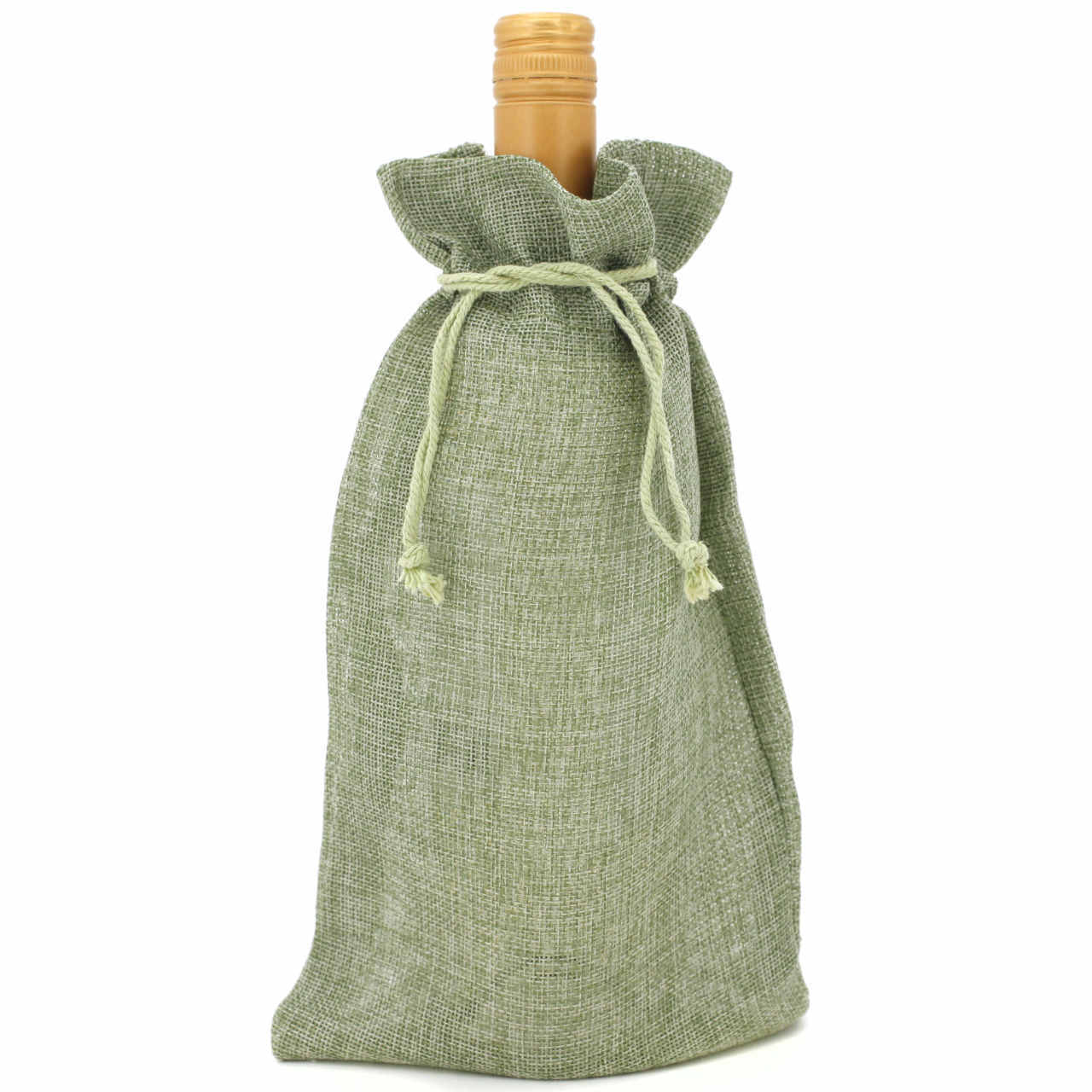 20 Burlap Style Cute Gift Party Favor Fabric Birthday Treat Goody Bag - Beige
