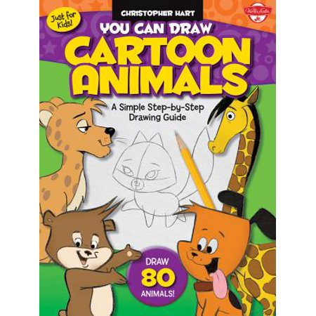 You Can Draw Cartoon Animals : A Simple Step-By-Step Drawing Guide! - Easy Halloween Cartoon Drawings