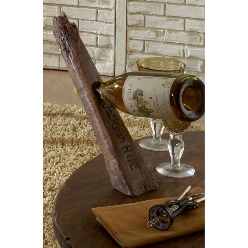 Groovystuff Antique Wagon Spoke Wine Bottle Stand - Honey