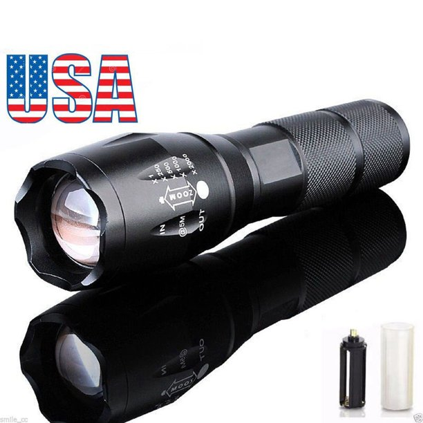 600 Lumen LED Focus Flashlight Zoomable Torch 18650/AAA Tactical Grade Waterproof Bright Powerful Flashlight