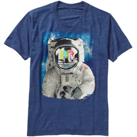 Mtv Mens Space Man Graphic Tee