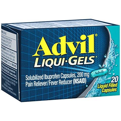 3 Pack - Advil 200 mg Liqui-Gels 20 Liqui-Gels Each