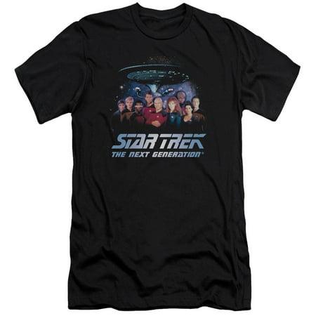 Star Trek Next Generation Tv Series Space Group Picard Riker Worf Adult T Shirt