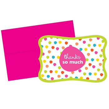 Great Papers 2013276 Circus Dots Thank You Note Cards