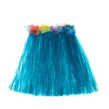 Complete Hula Outfit (400mm/600mm Hawaiian Hula Skirt Tropical Party Decorations Girls Woman Eye-Catching Outfits Performance Show Stage Costume Hawaii Beach Dance Dress)