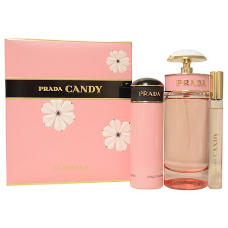 Prada Candy Florale Set-Edt Spray 2.7 Oz & Shower Gel 2.5 Oz & Edt Rol