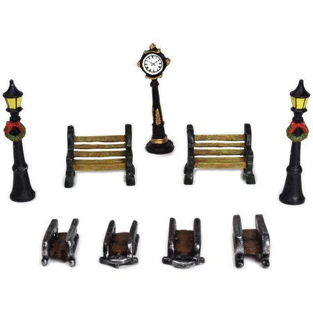 Holiday Time 9 pc. Christmas Figurine Accessory Set