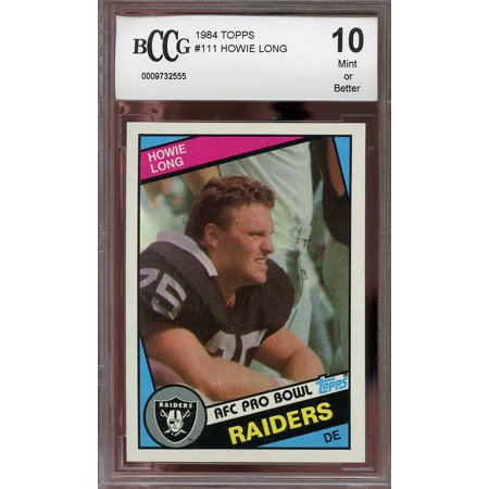 1984 Topps  111 Howie Long Oakland Raiders Rookie Card Bgs Bccg 10