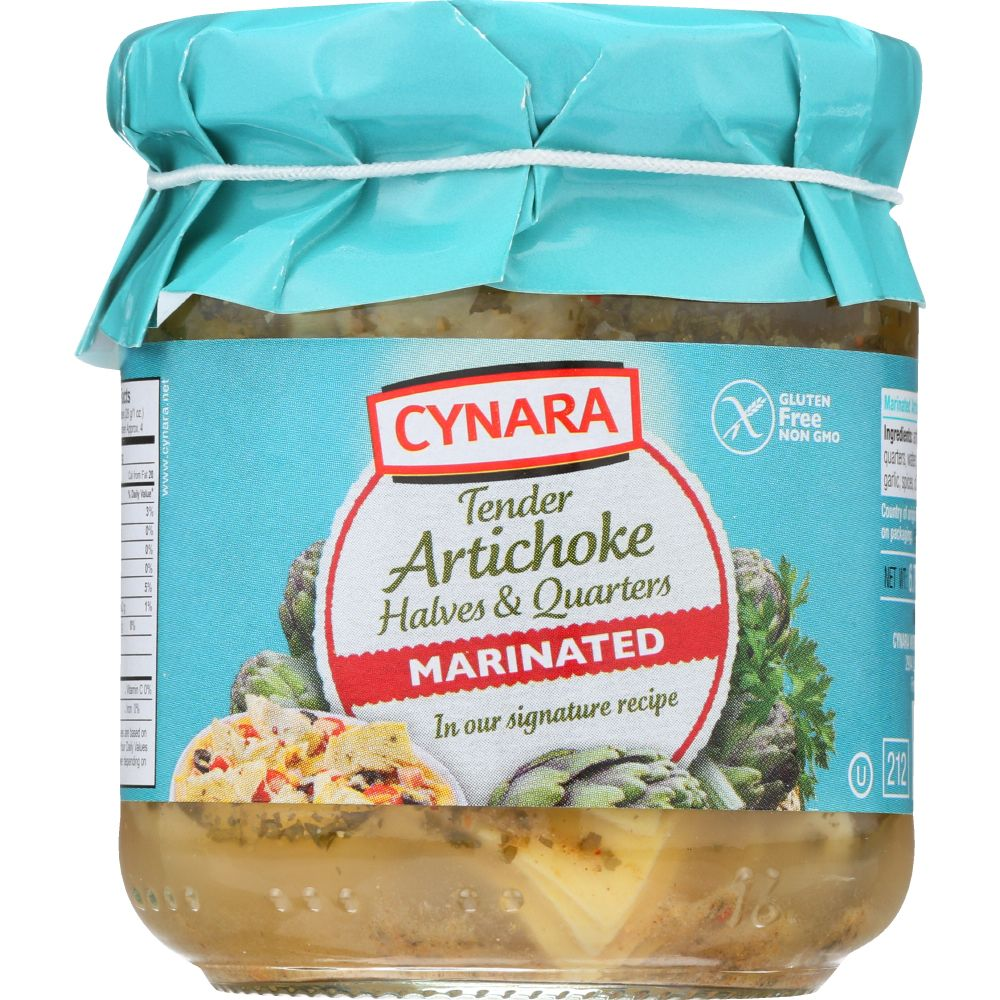 Cynara Marinated Artichoke Hearts Halves & Quarters Artichokes, 6.75 Oz (Pack Of 6)