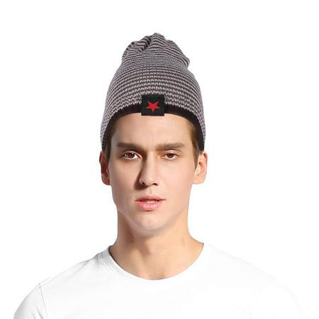 Garosa Beanie Hats,Winter Autumn Warm Men Knit Beanie Hats Reversible Women Snow Cap Unisex - image 3 of 6