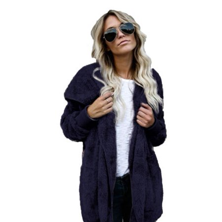 Womens Long Oversized Hoodie Loose Knitted Sweater Cardigan Outwear Coat  Faux Fur Long Sleeve Overcoat Winter - Walmart.com 948ed24d7