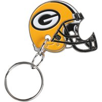 Green Bay Packers Double-Sided Helmet Bottle Opener Keychain - No Size