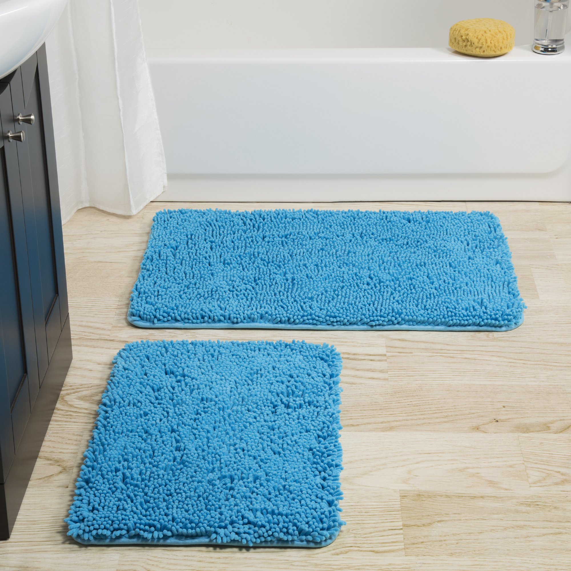 Somerset Home 2 Piece Memory Foam Somerset Homeag Bath Mat - Blue ...