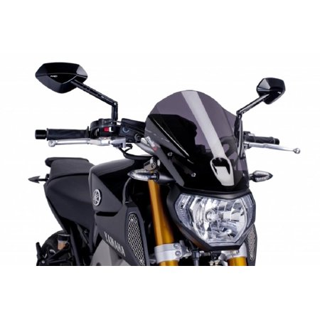 Puig Touring Windscreens - PUIG 6861F Naked New Generation Touring Windscreen - Dark Smoke