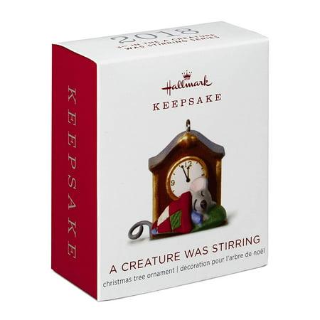 Hallmark Keepsake 2018 Mini A Creature Was Stirring Mouse by Clock Ornament, 1