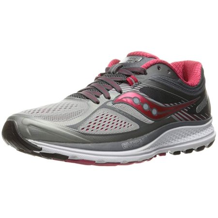 20ecc6a1ee Saucony Women's Guide 10 Running Shoe, Silver/Berry, 11 B US