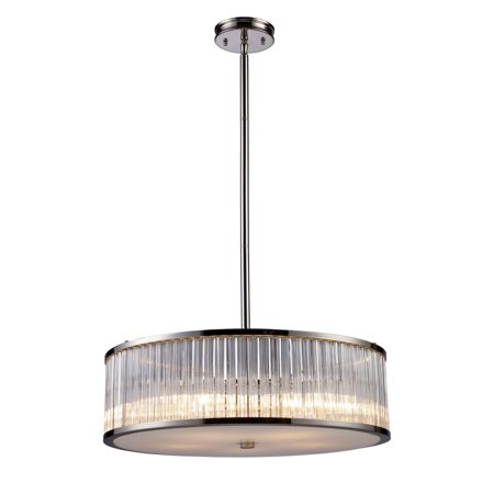 Braxton 5-Light Pendant In Polished Nickel - image 1 de 1