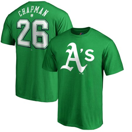 Matt Chapman Oakland Athletics Majestic St. Patrick's Day Stack Player Name & Number T-Shirt - Kelly Green (Oakland Athletics Matt)