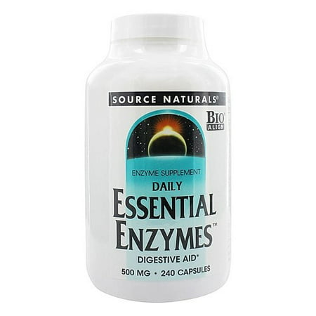 Source Naturals Daily Essential Enzymes 500 mg. 240 Vegetarian (Source Naturals Enzymes)