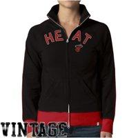'47 Brand Miami Heat Womens Hardwood Classics Tennis Stretch Track Jacket - Black