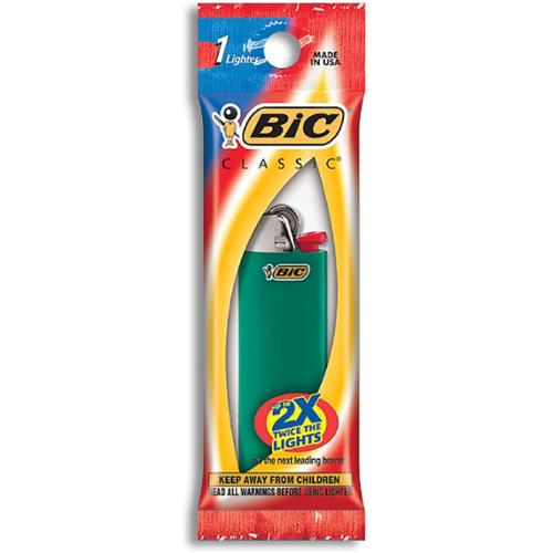 Bic Classic Disposable Lighter, Colors May Vary 1 ea (Pack of 2)