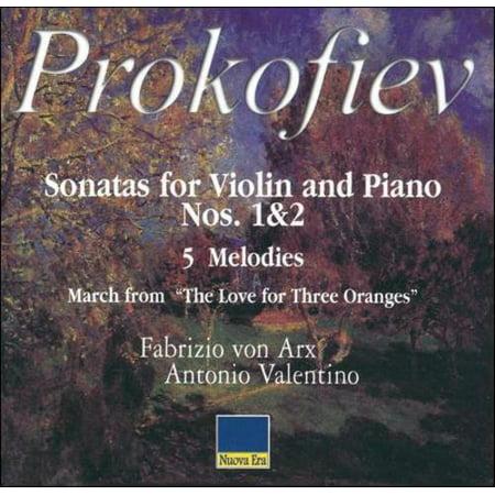 PROKOFIEV: SONATAS FOR VIOLIN AND PIANO NOS. 1 & 2; 5 (Melodies Violin)