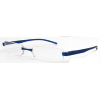 M Readers Rimless R02 +1.75 Reading Glasses, Blue