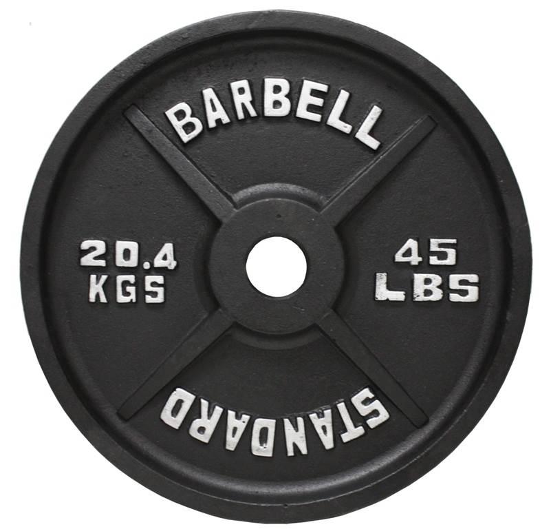 USA Sports Black Olympic Plate - 45 lbs.