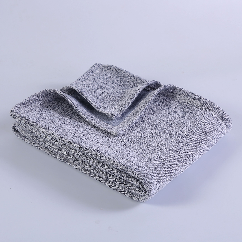 Mainstays Sweater Fleece Throw Blanket 50 X 60 Purple Walmart Com Walmart Com