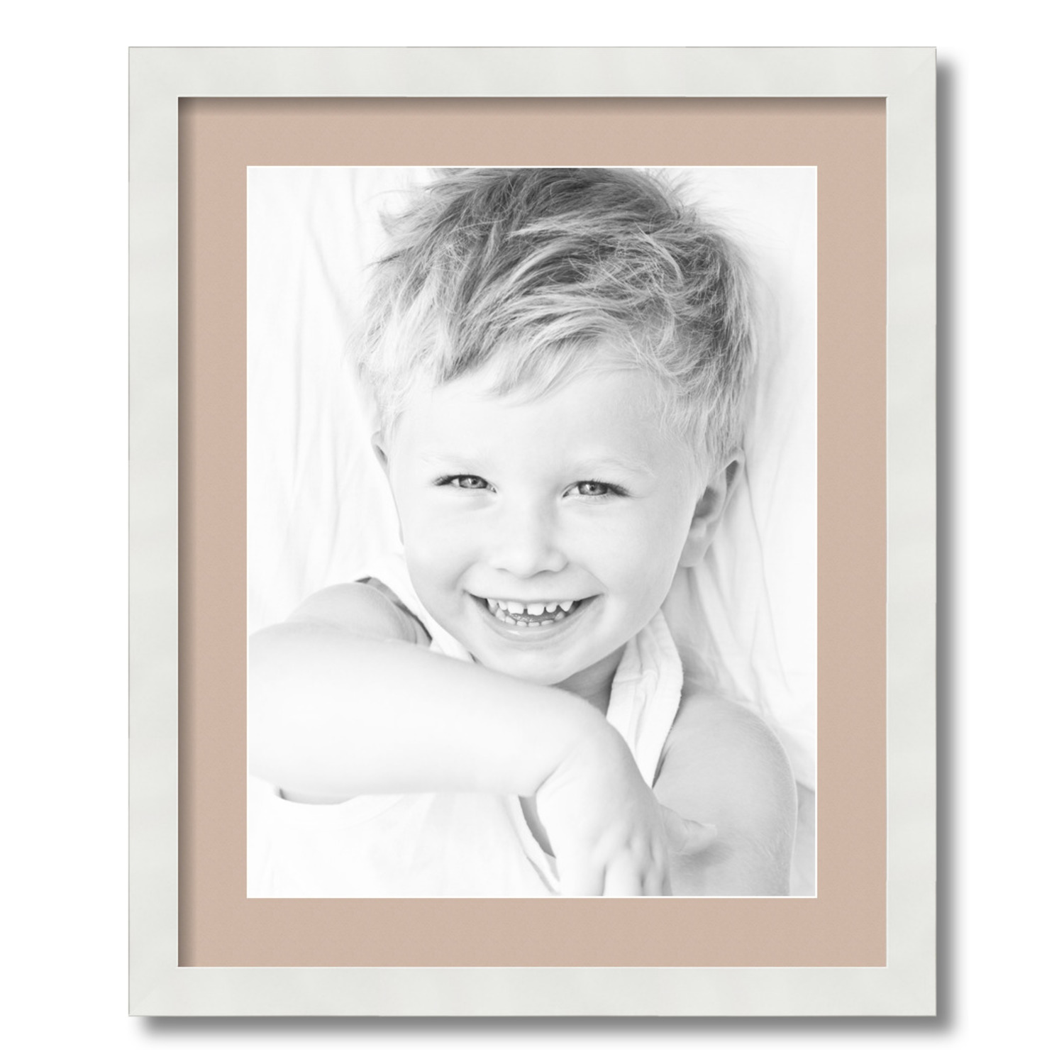 """ArtToFrames Matted 18x22 Black Picture Frame with 2/"""" Double Mat 14x18 Opening"""