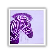 ArtWall Zebras Purple' by Lindsey Janich Graphic Art on Rolled Canvas