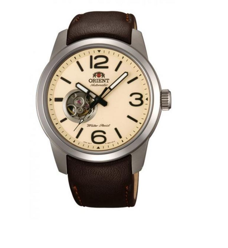 Orient Scout FDB0C005Y0 Cream Dial Brown Leather Band Men...