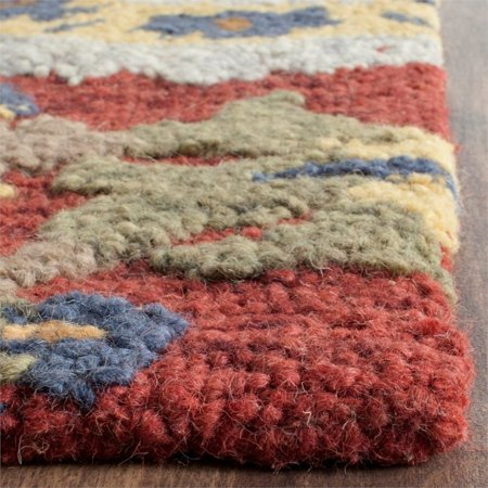 Safavieh Blossom 5' X 8' Hand Hooked Wool Rug in Red - image 1 de 8