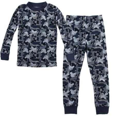 PLove Kids Two-Piece Organic Cotton Pajamas Little Boys Toddler PJs Pants Shirt