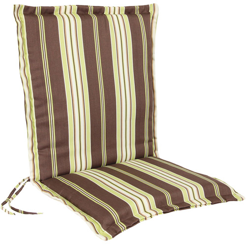 Jordan Manufacturing Outdoor Stripe Flanged Chair Cushion, Multiple Patterns