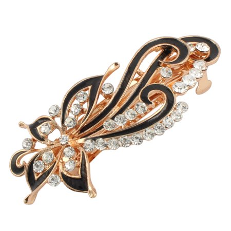 Women Metal Flower Decor Hairstyle French Hair Clip Barrette - 1970s Hairstyles For Women