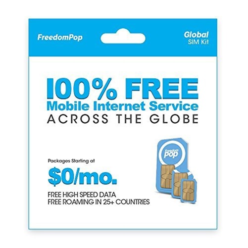 100% FREE WL INTERNET W/ FREEDOMPOP GLOBAL 3-IN-1 SIM KIT