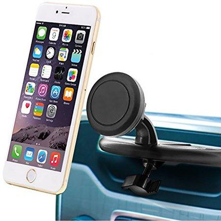 Insten 360 Degree Rotatable Joint Premium Universal CD Slot Magnetic Car Mount Cell Phone Holder - Black - image 3 of 7
