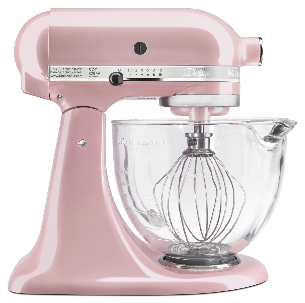 KitchenAid Artisan Design Series 5 Quart Tilt-Head Stand Mixer with Glass Bowl, Starry Night (KSM155GBSN)