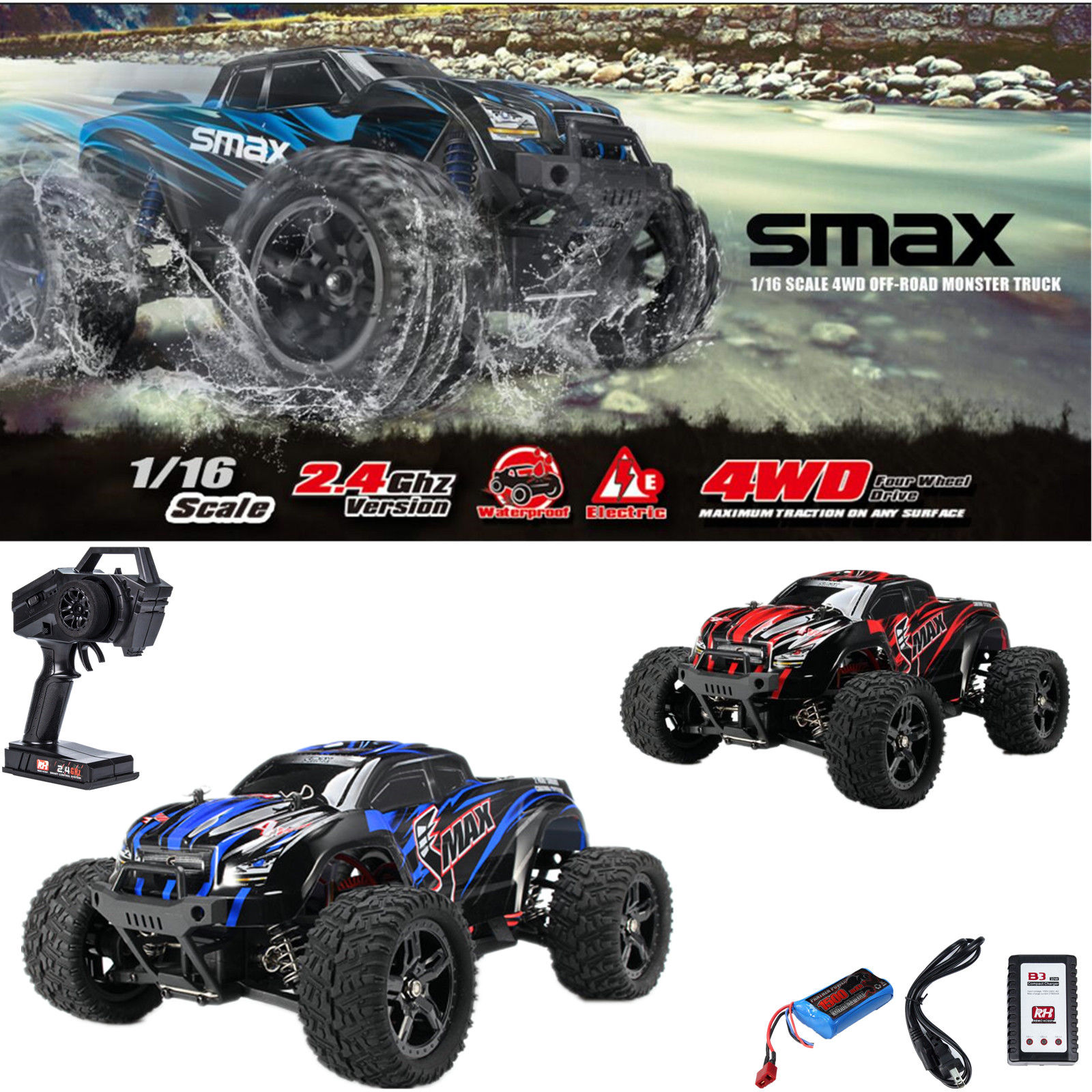 High Speed 4WD RC Brushed Car 1631 1 16 Scale Off-road Short-haul Monster Truck by Remo