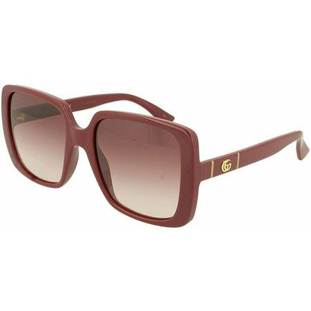 Women's Gucci GG0632S 003 Burgundy Sunglasses W/Red Gradient Lens