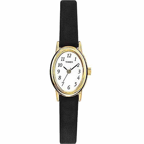 Timex Women's Cavatina Watch, Black Leather Strap