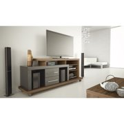 "Manhattan Comfort Empire 67"" TV Stand in Chocolate and Onyx"