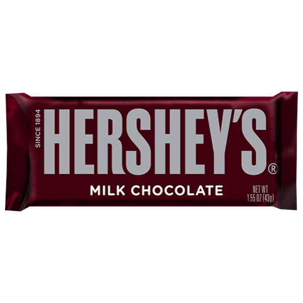 Hershey's Milk Chocolate 1.5 oz Bars Pack of 12 by