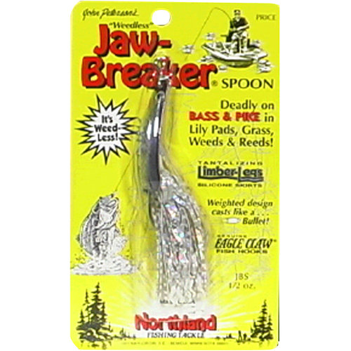 Northland Tackle Jaw-Breaker Spoon, Silver Shiner