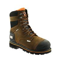 Herman Survivor Professional Series Mens 8 inch Dozier Work Boot, ASTM Rated Safe, Slip Resistant, Brown and Black
