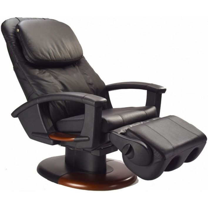 Superbe Human Touch HT 135 Black Vinyl Refurbished Massage Chair   Including Groung  Curbside Delivery