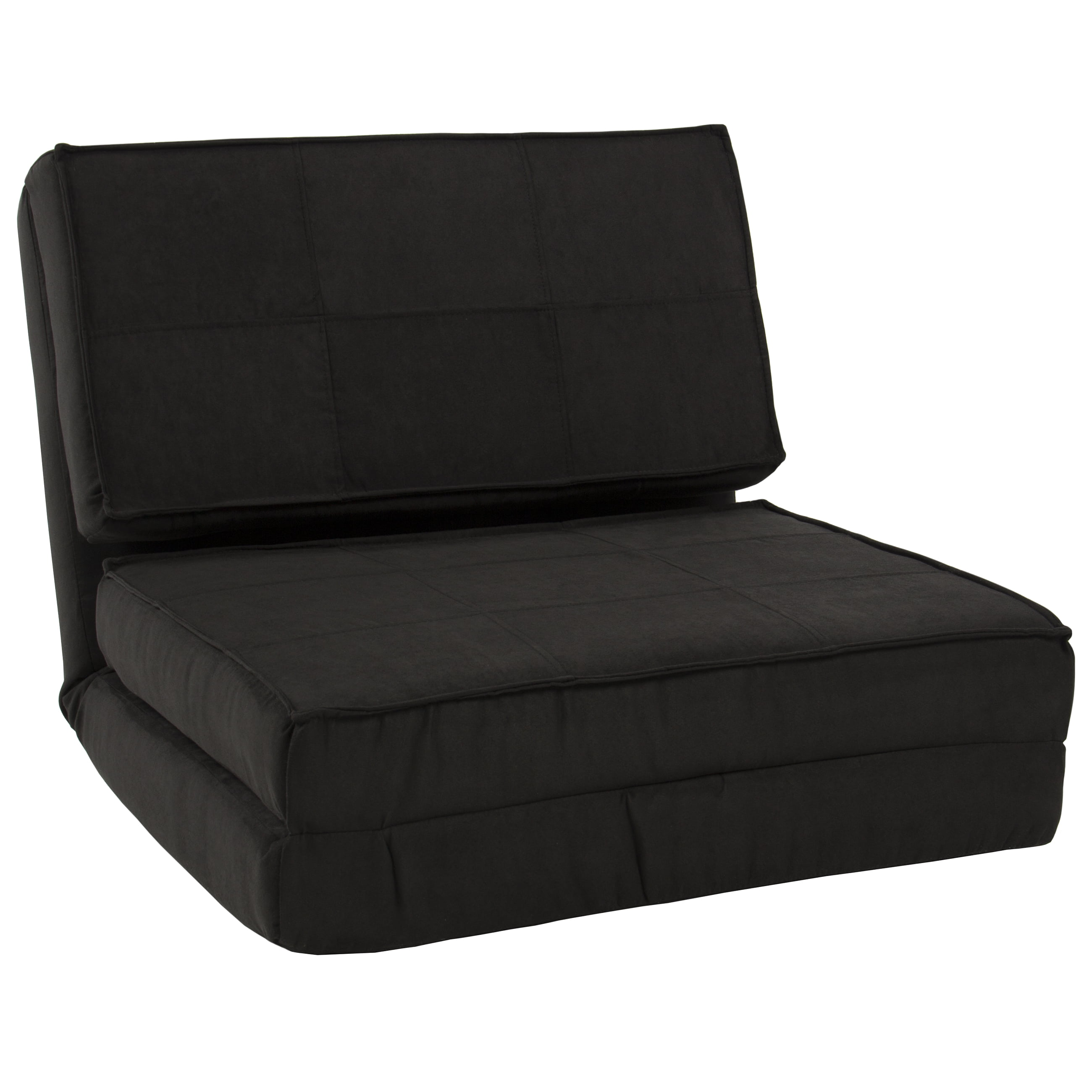 Bed chair pillow walmart - Fold Down Chair Flip Out Lounger Convertible Sleeper Bed Couch Game Dorm Guest Walmart Com