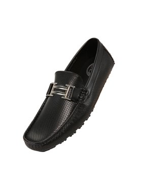 Amali Mens Perforated Harry Slip On Driving Moccasin Loafer